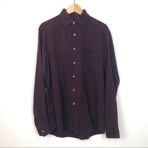 Hugo Boss 100% Silk Button Down Shirt